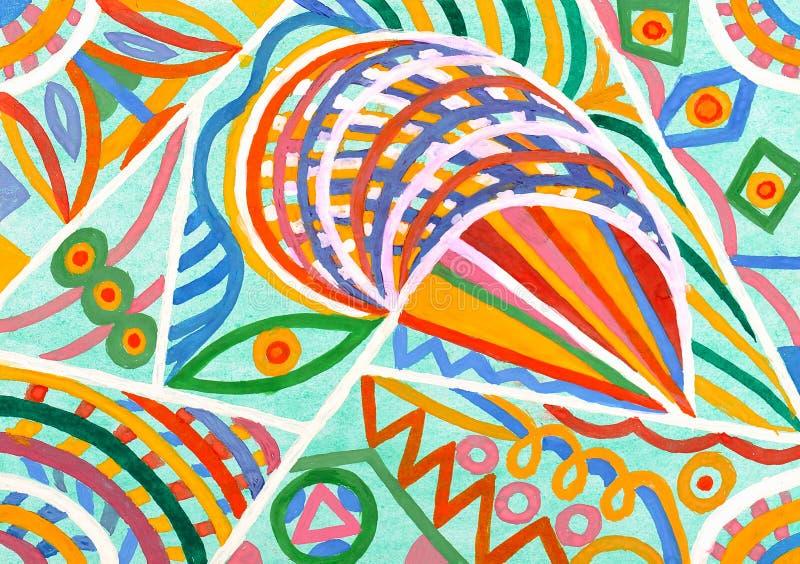 抽象装饰品纸张水彩 向量例证