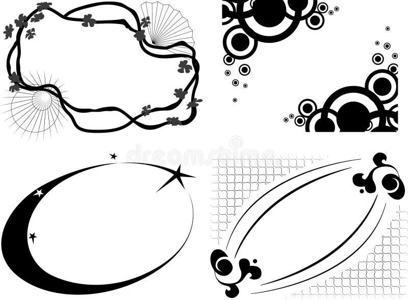 抽象装饰框架 皇族释放例证