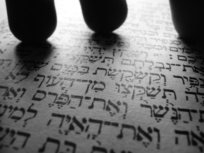 抽象西伯来文本torah 免版税库存照片