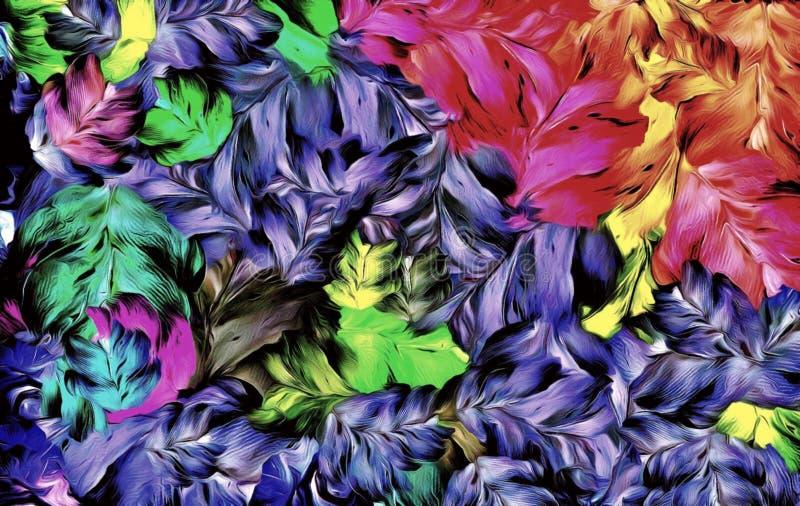 抽象计算机传统化了装饰葡萄酒纹理,大冲程油漆,五颜六色的计算机图表背景样式  向量例证