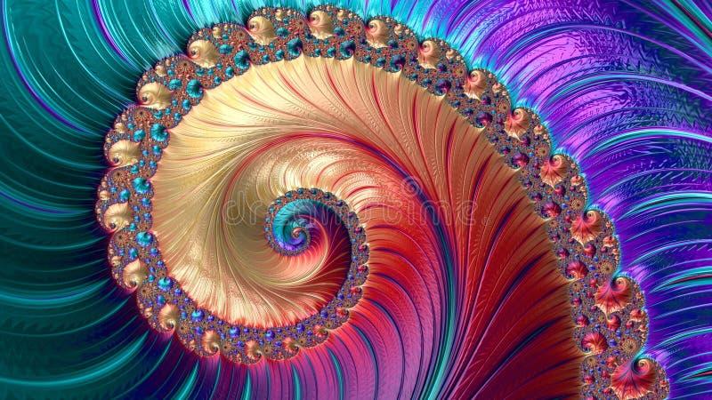 抽象计算机生成的分数维设计 库存图片