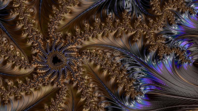 抽象计算机生成的分数维设计 免版税库存照片
