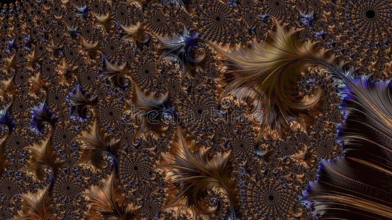 抽象计算机生成的分数维设计 免版税图库摄影