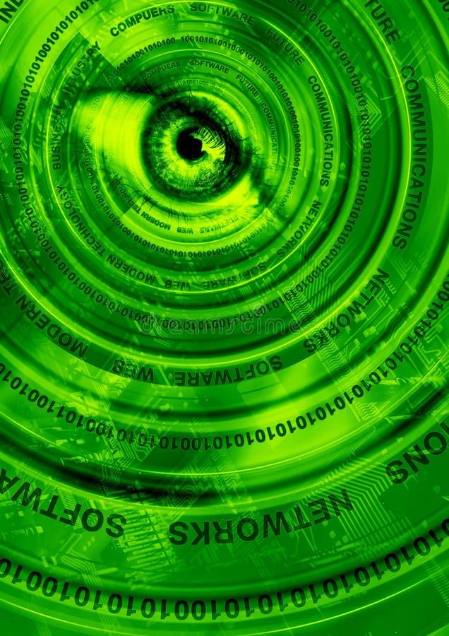 抽象计算机绿色技术 皇族释放例证