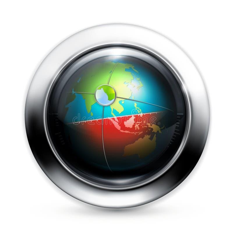 抽象设备定位 库存例证