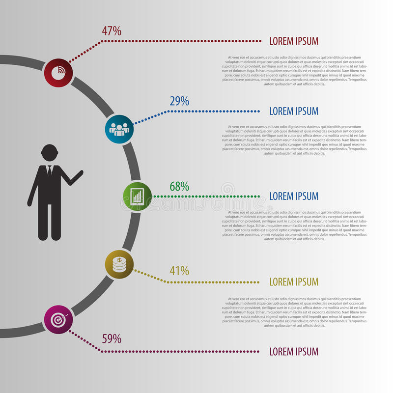 抽象设计例证Infographic 向量 向量例证
