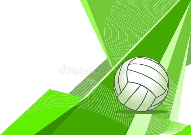 抽象设计排球 库存例证