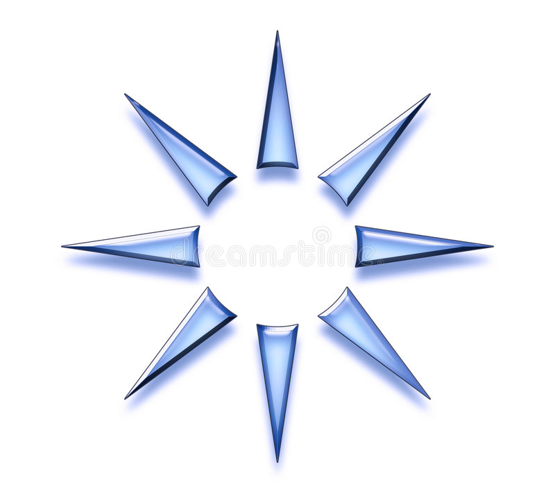 抽象设计星形 向量例证