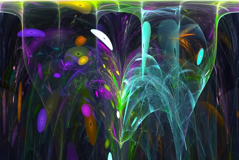 抽象设计漩涡创造性的纹理轻的意想不到的火焰作用混乱 库存例证