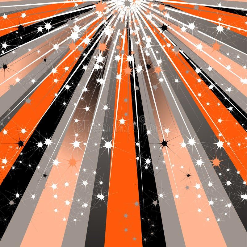 抽象设计现代光芒星期日 向量例证