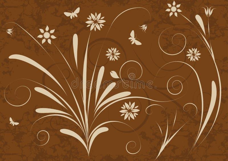 抽象设计花卉向量 向量例证