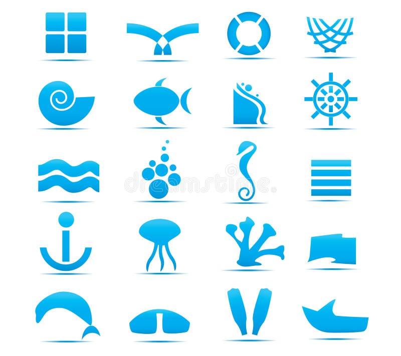 抽象设计要素海运 皇族释放例证