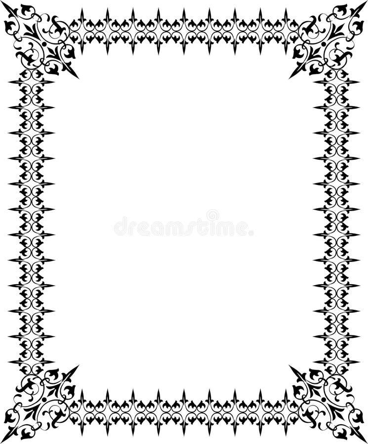 抽象设计要素花卉框架向量 皇族释放例证