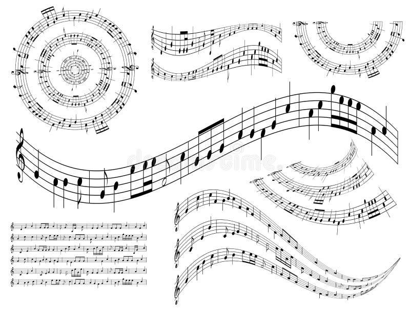 抽象设计要素音乐会集合向量 库存例证