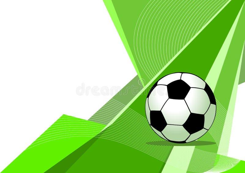 抽象设计足球 库存例证