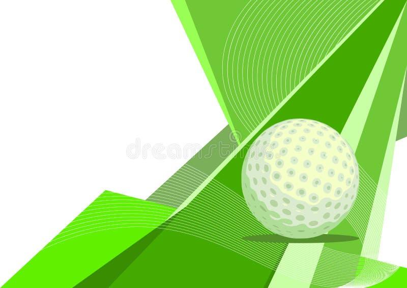 抽象设计高尔夫球 皇族释放例证