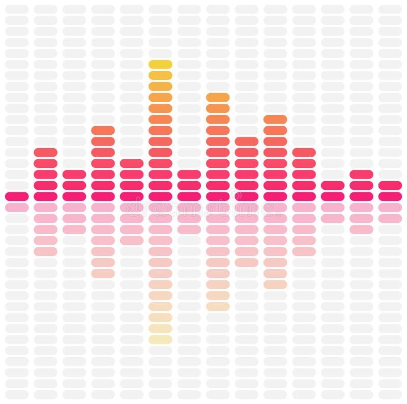 抽象调平器声波 音频脉冲音乐 库存例证