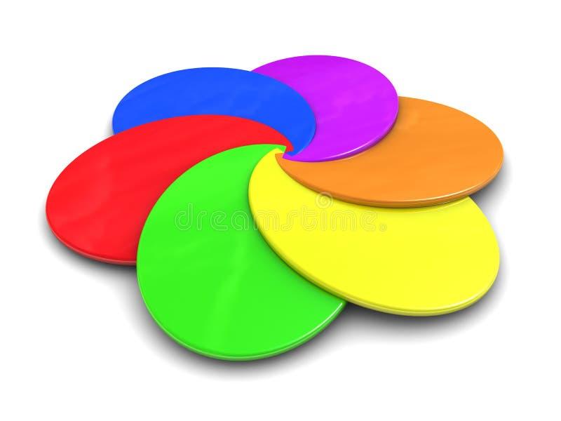 抽象调色板 库存例证