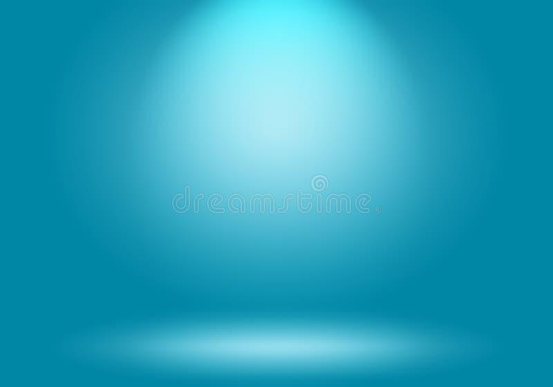 抽象豪华梯度蓝色背景 使深蓝光滑与黑小插图演播室横幅 库存例证