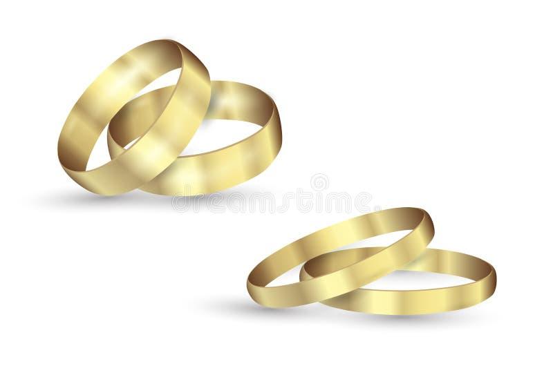 抽象豪华金黄圆环 传染媒介轻的圈子和火花光线影响 库存例证