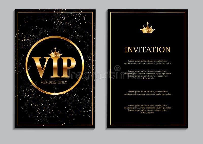 仅抽象豪华VIP成员邀请背景传染媒介Il 向量例证