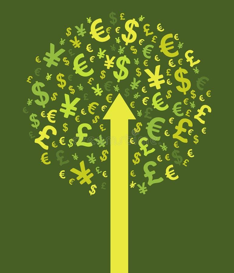 抽象货币结构树 库存例证