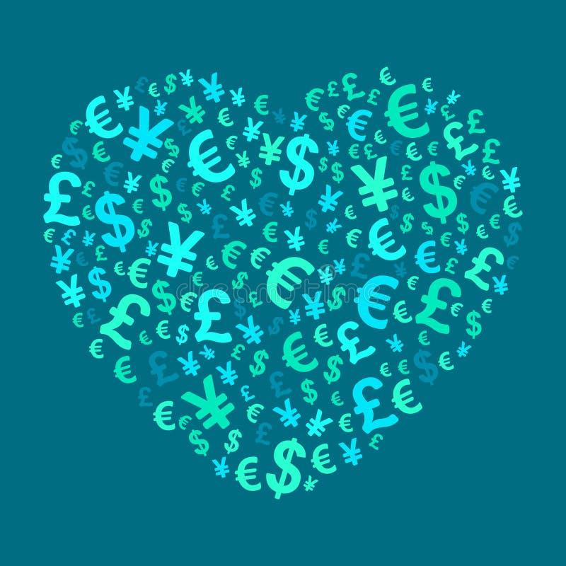 抽象货币重点 向量例证