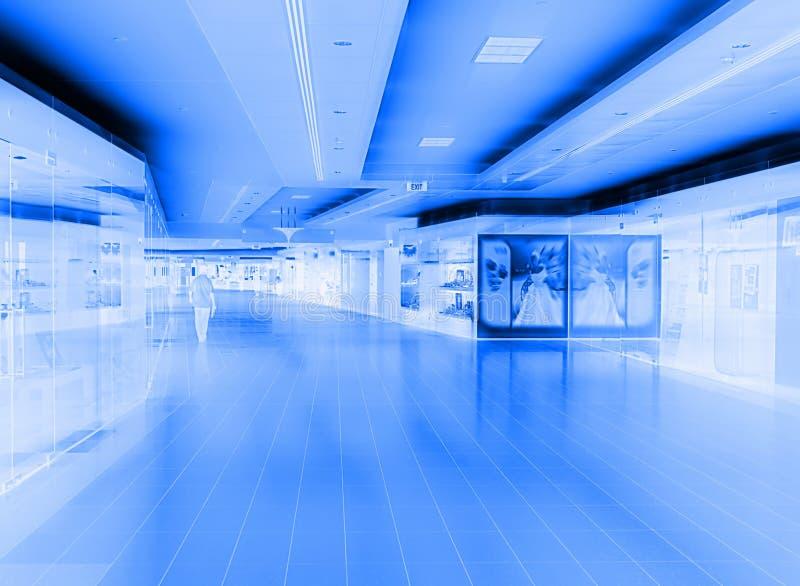抽象购物中心购物 皇族释放例证