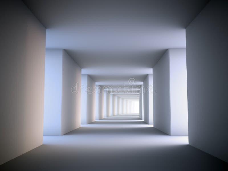 抽象走廊 皇族释放例证
