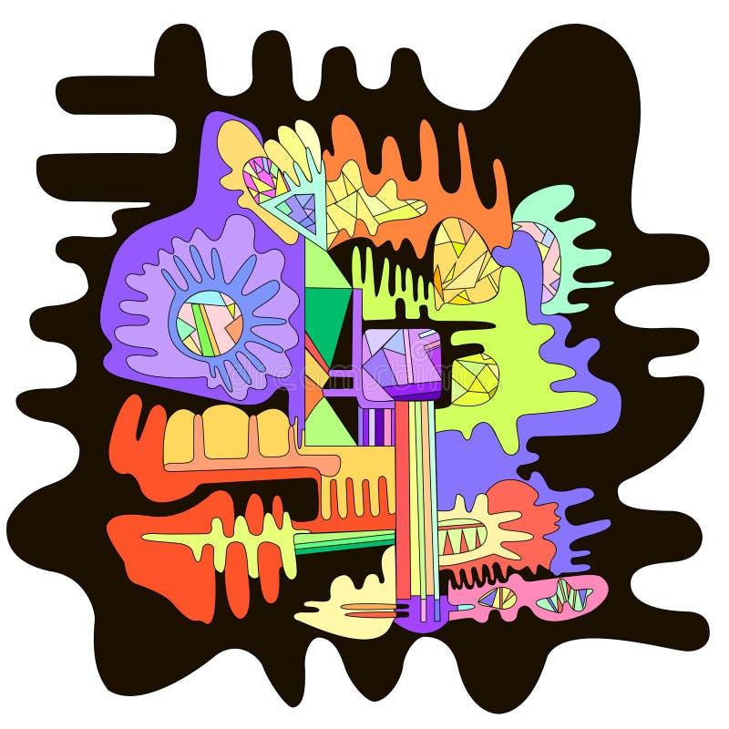 抽象超现实的图形设计背景 库存例证