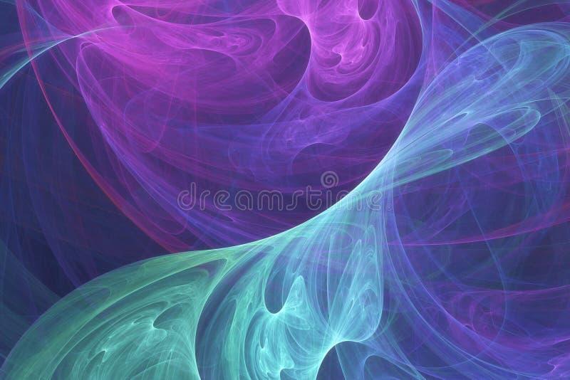 抽象超现实的背景 幻想海报的,墙纸分数维设计 计算机生成,数字式艺术 在蓝色和玫瑰色col 库存例证