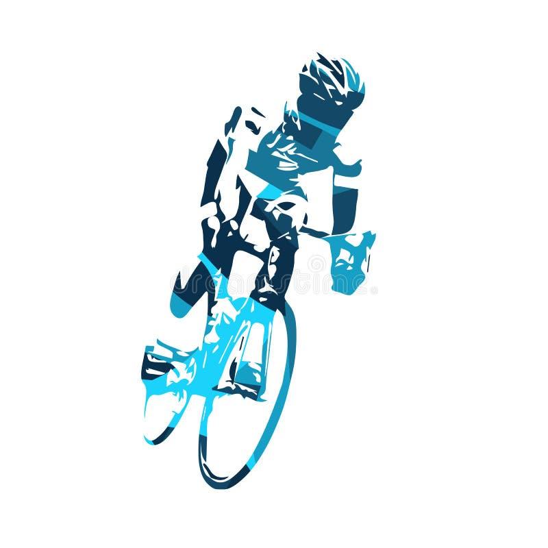 抽象路骑自行车者传染媒介例证 库存例证
