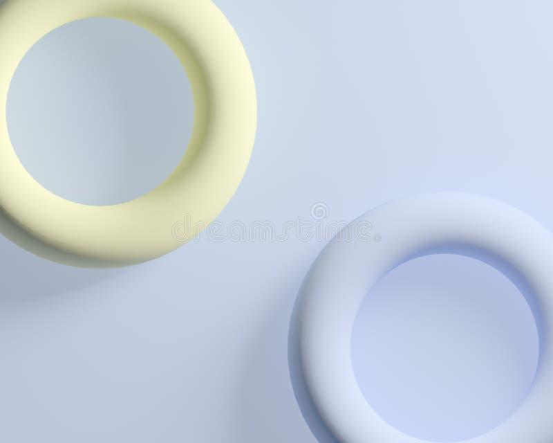 抽象软的圆环圈子五颜六色的背景 向量例证