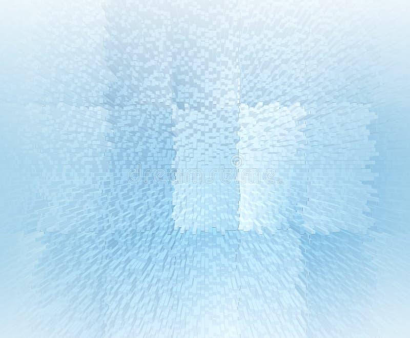 抽象软的蓝色3d illustrtion背景 库存例证