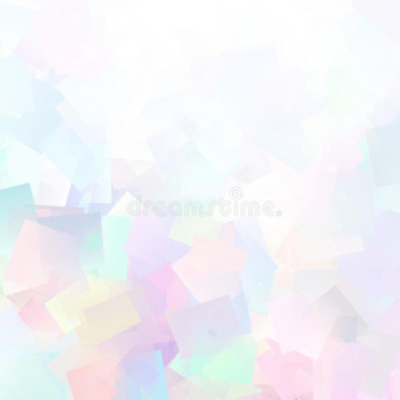 抽象轻的水彩桃红色蓝色淡色样式 创造性的艺术背景 被弄脏的斑点 皇族释放例证
