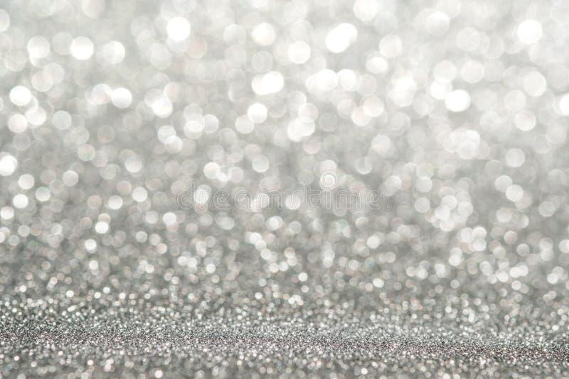 抽象轻的银色闪耀的闪烁墙壁摘要光silv 免版税库存照片