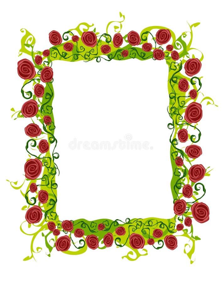 抽象边界玫瑰色藤 皇族释放例证