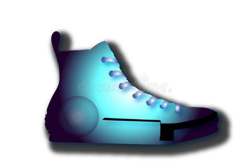 抽象运动鞋商标 皇族释放例证