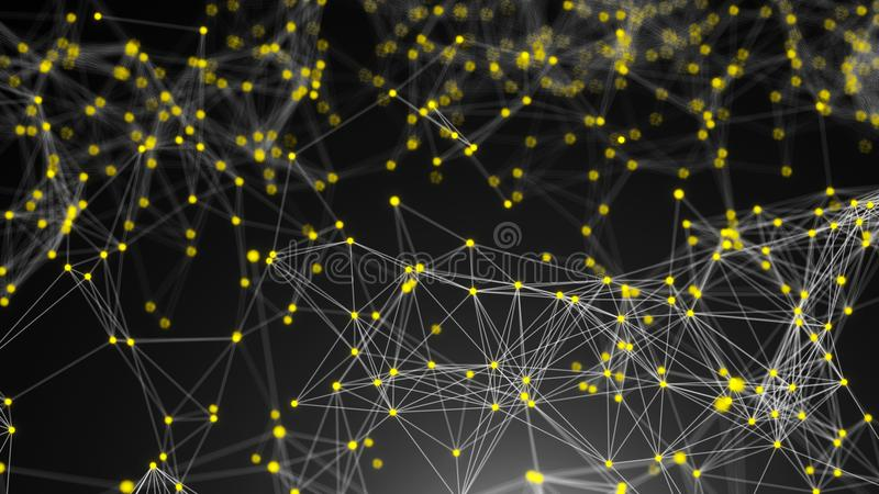 抽象连接小点 背景二进制代码地球电话行星技术 构思设计例证网络向量 库存例证