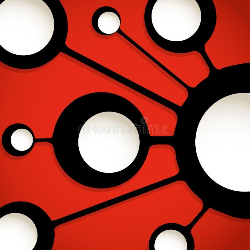 抽象连接数模式 库存例证