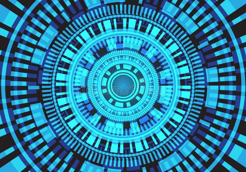 抽象迷离光圈子电路系统能量力量技术设计现代未来派背景传染媒介 皇族释放例证