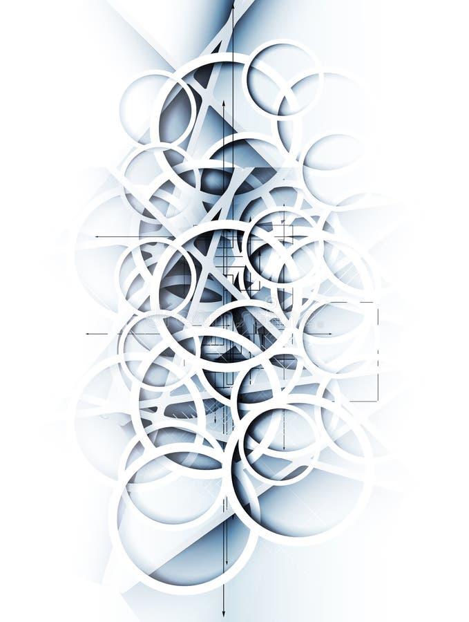 抽象迷离冰技术企业背景 免版税库存图片