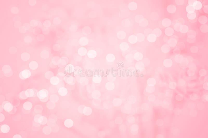 抽象迷离背景:美丽的桃红色Bokeh 免版税库存照片