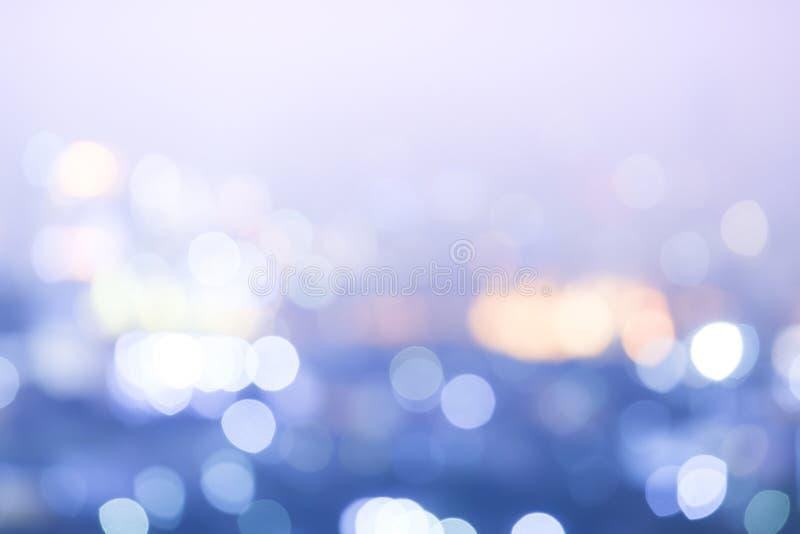 抽象迷离bokeh夜城市背景 免版税库存图片
