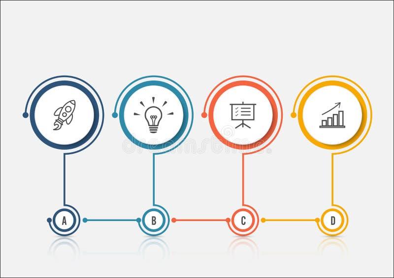 抽象选择infographics模板 企业介绍或信息横幅的Infographics 向量例证