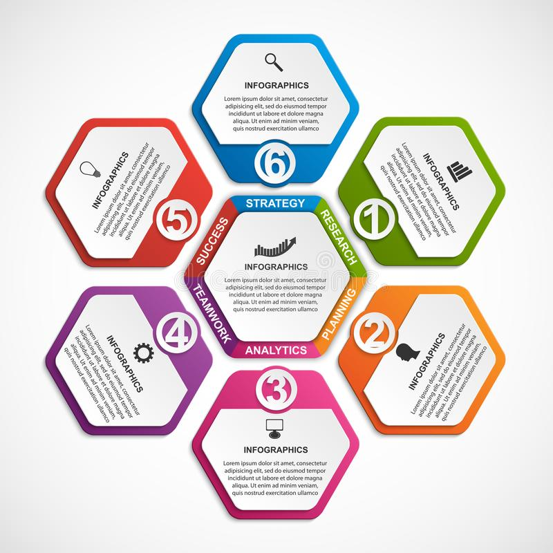 抽象选择infographics模板 企业介绍或信息横幅的Infographics 库存例证