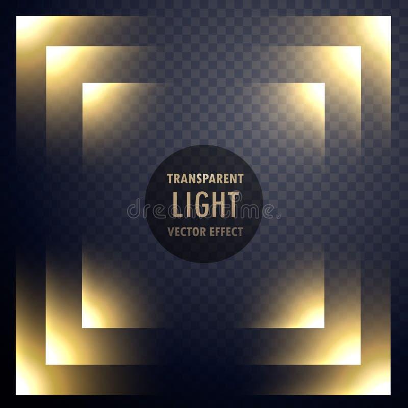 抽象透明光线影响框架设计 库存例证