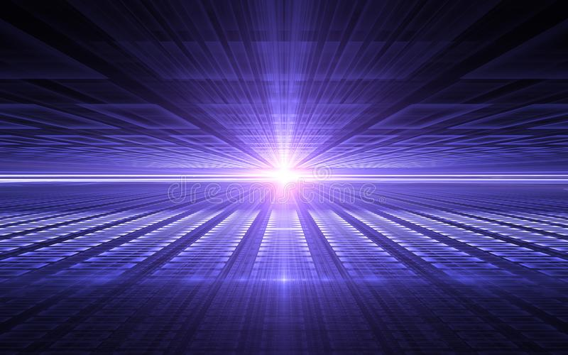 抽象透视未来派技术背景 时间异常,网际空间 向量例证