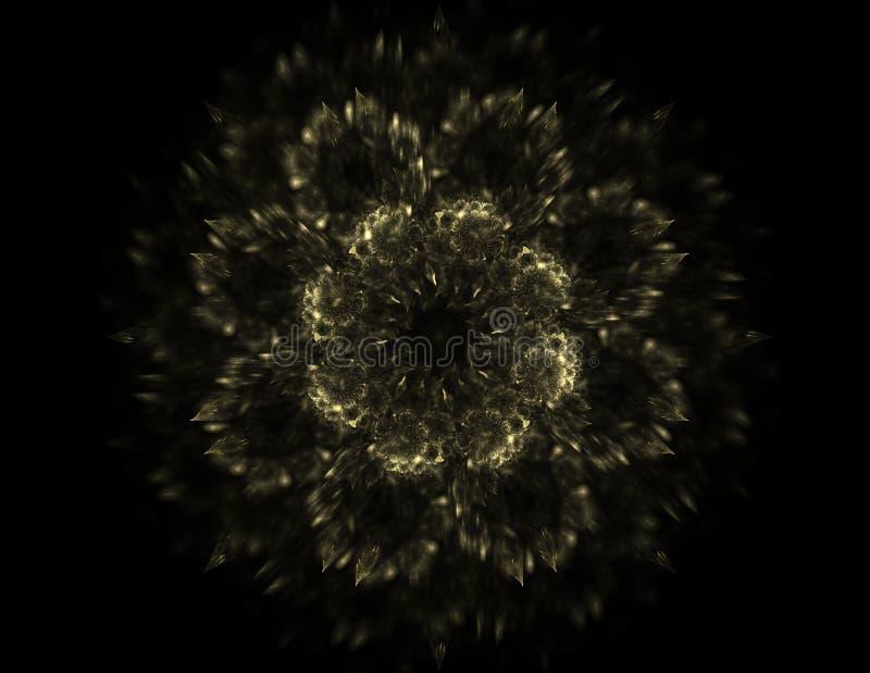 抽象透镜火光空间或时间旅行概念背景 库存例证