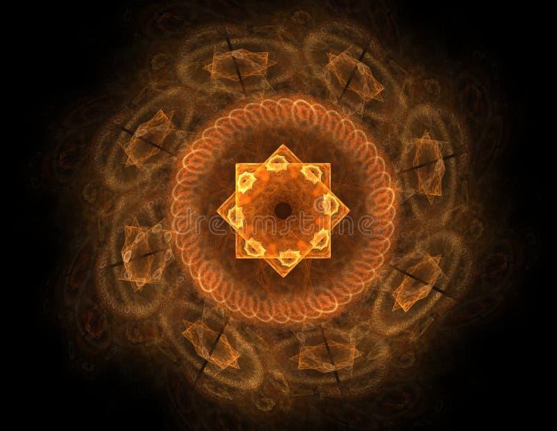 抽象透镜火光空间或时间旅行概念背景 皇族释放例证